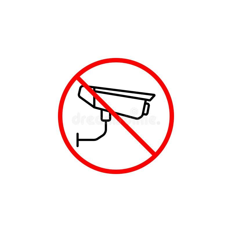 没有监视线象,没有照相机禁止 皇族释放例证