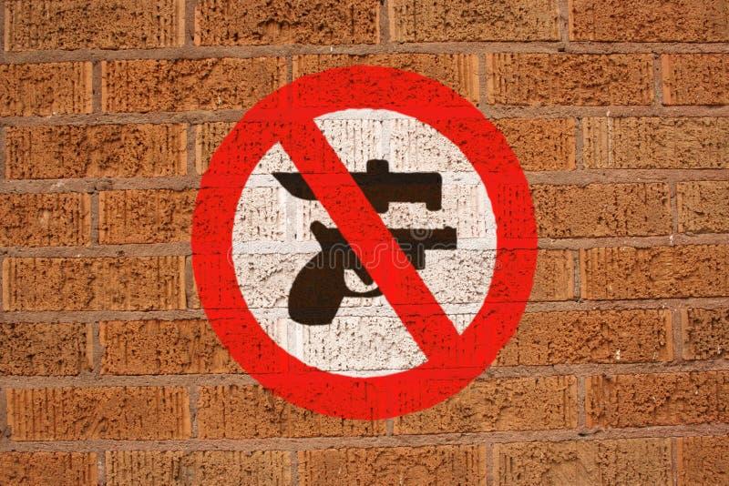 没有符号墙壁武器 向量例证