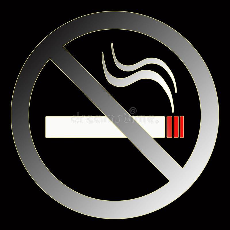没有符号抽烟 向量例证
