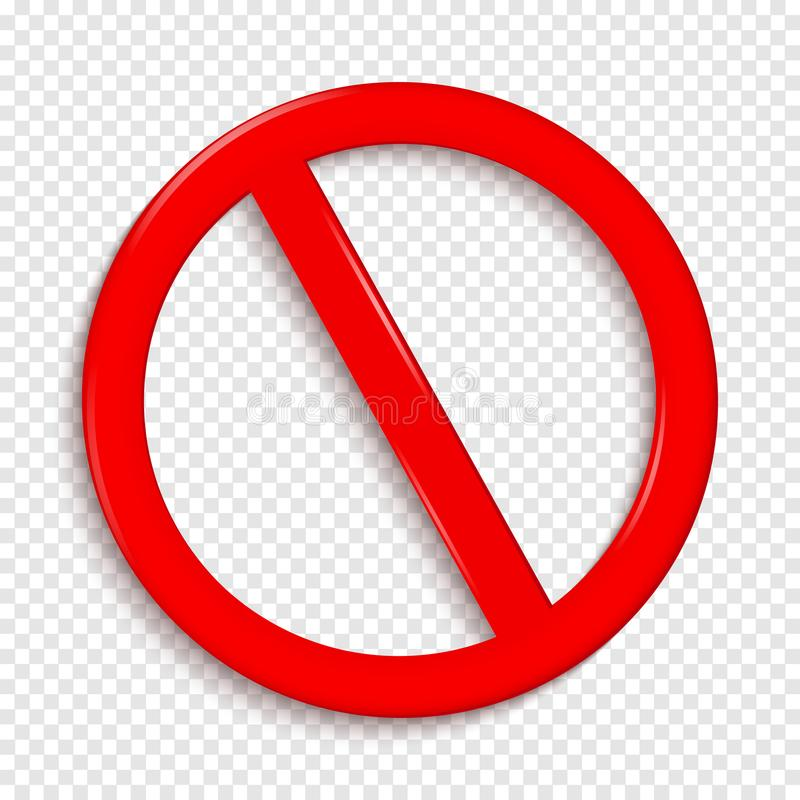 没有符号 隔绝在透明背景 向量例证
