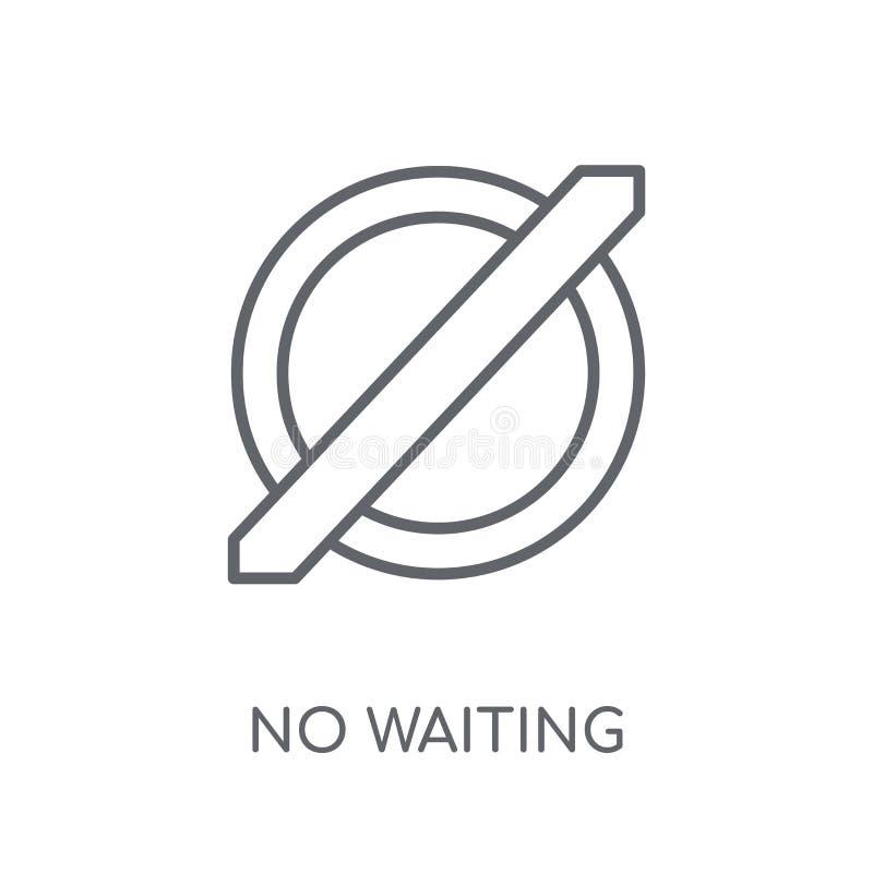 没有等待的线性象 现代概述没有等待的商标概念o 皇族释放例证
