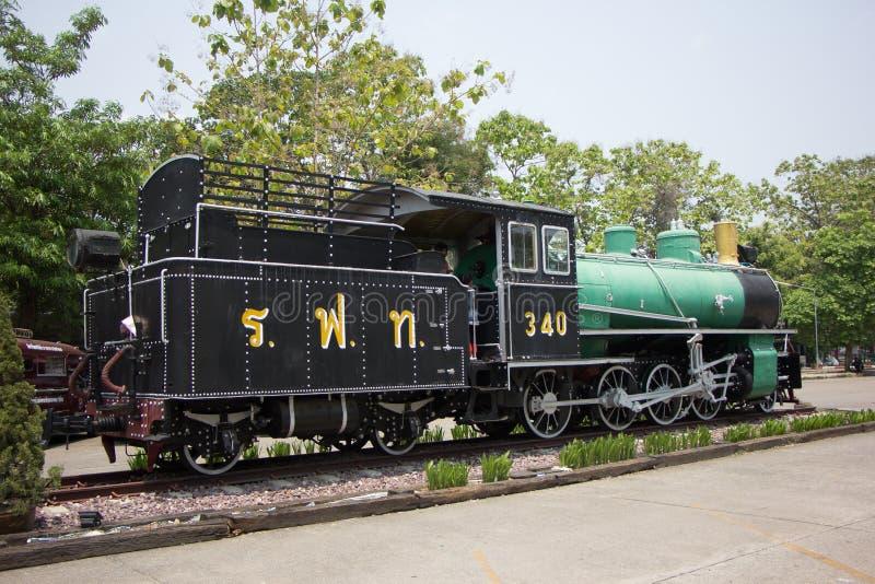 没有老的蒸汽机车 340泰国的状态铁路 库存图片