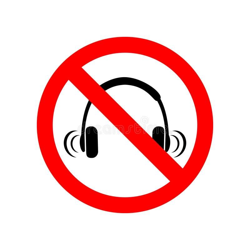 没有耳机标志 库存例证