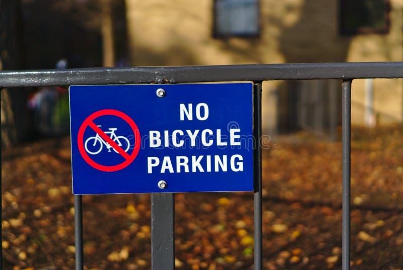 没有自行车停车处标志 库存图片