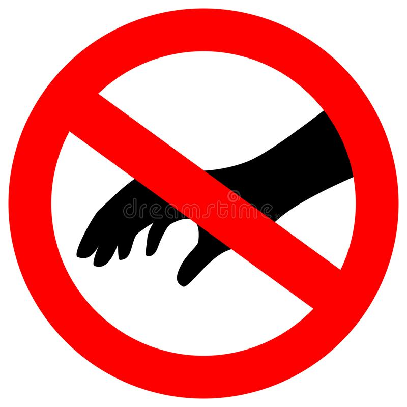 没有请接触安全传染媒介标志 库存例证