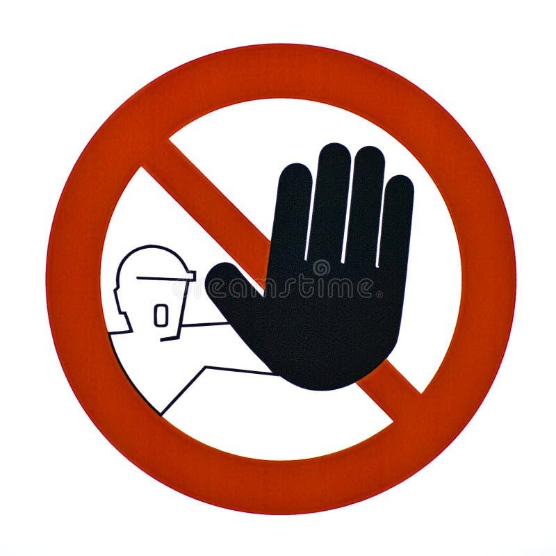 没有通过符号警告 库存照片