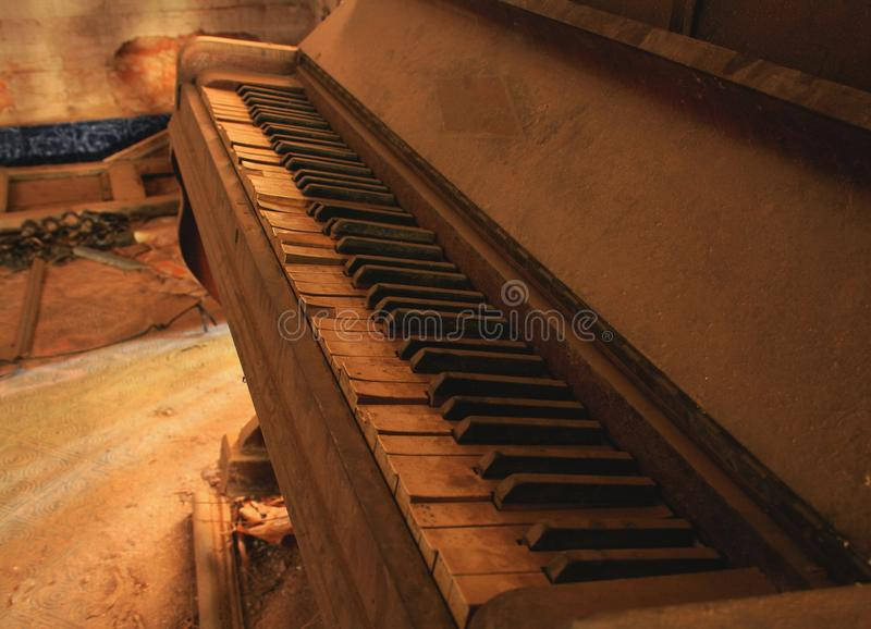 没有钢琴演奏家的钢琴 图库摄影