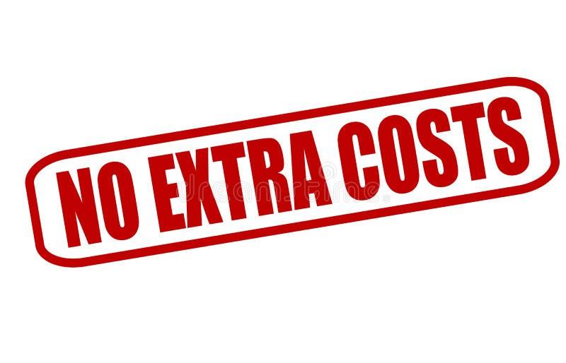 没有附加成本 库存例证