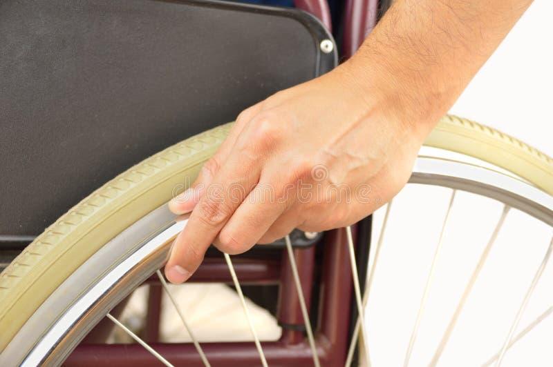 没有障碍的轮椅 免版税库存图片