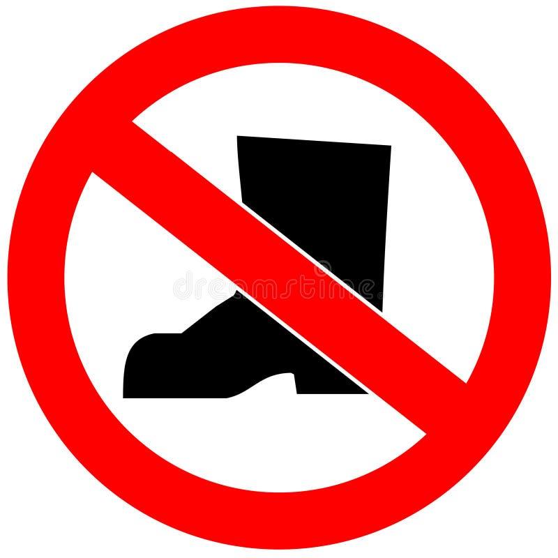 没有鞋子 库存例证