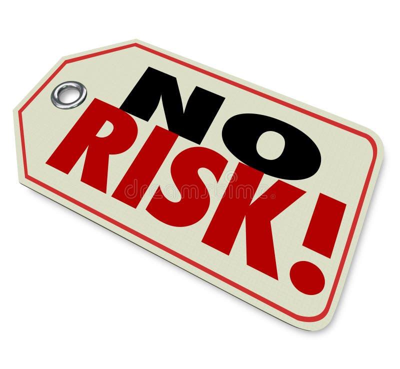没有风险价牌顶面被信任的质量品牌最佳的产品Guarant 向量例证