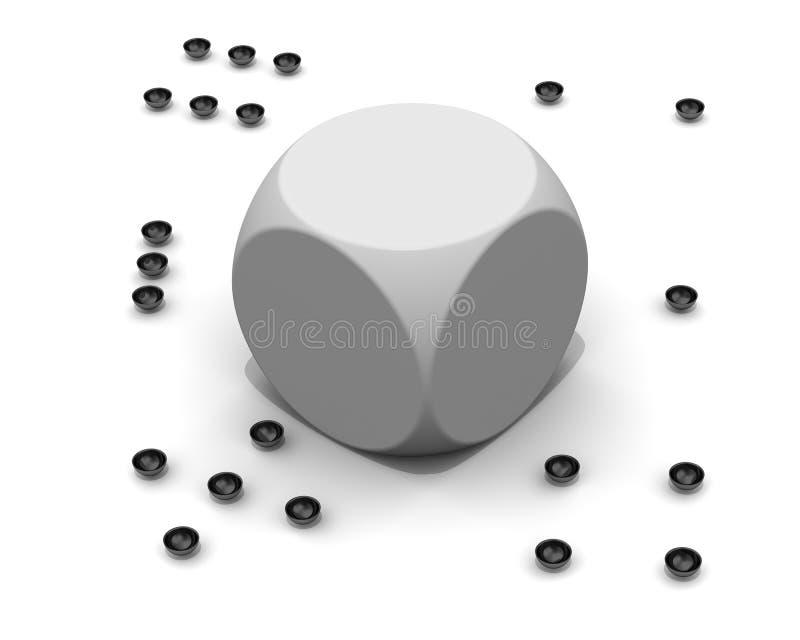 没有黑小点的残破的模子 库存例证