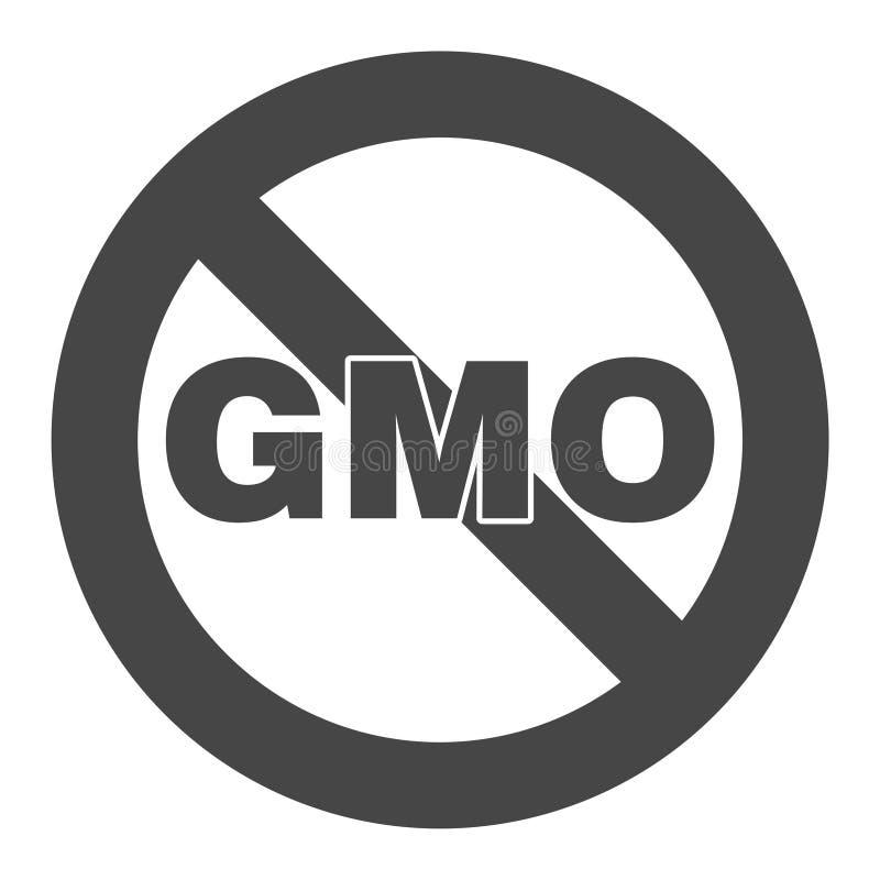 没有GMO标志象 库存例证