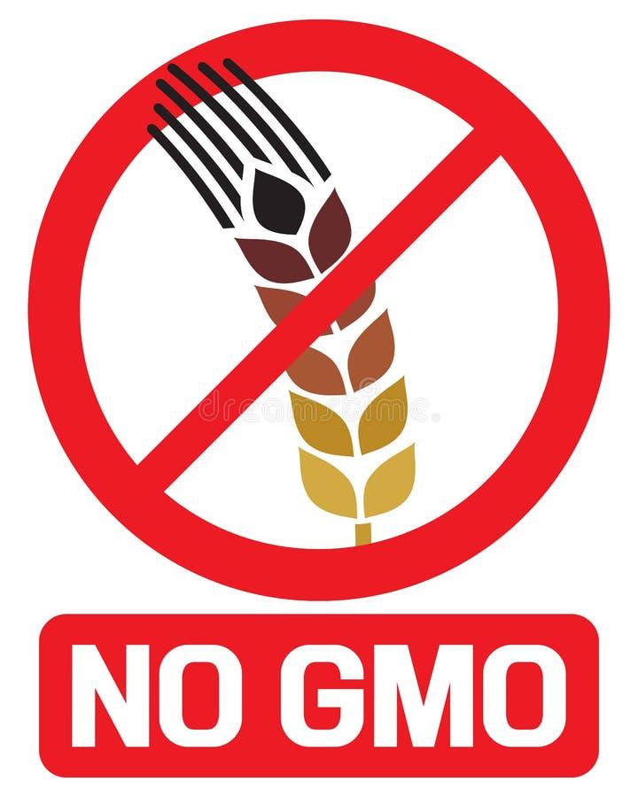 没有GMO标签 库存例证