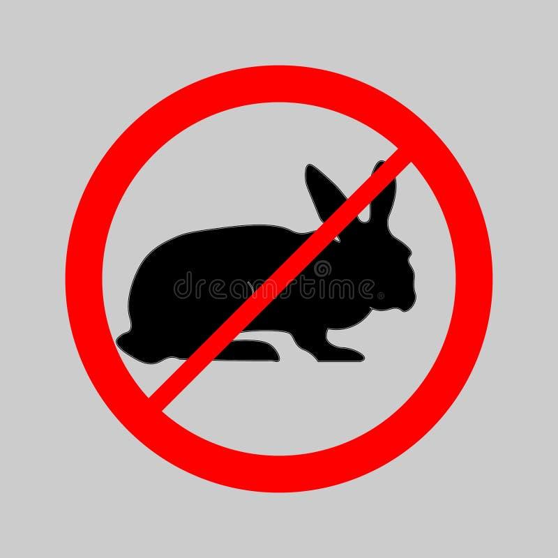 没测试在动物标志 向量例证