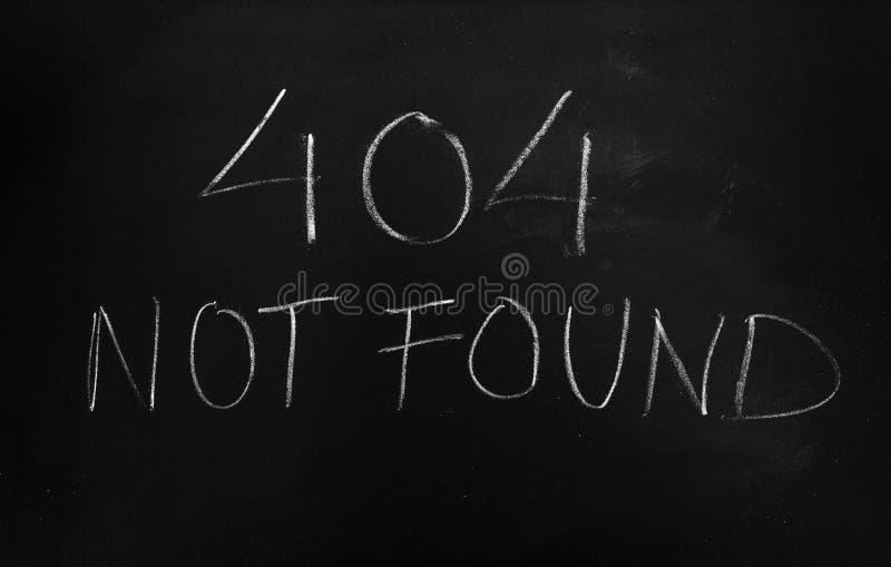 404没被找到的错误信息 免版税图库摄影