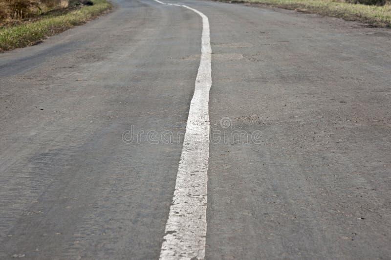 沥青空的街道 库存照片