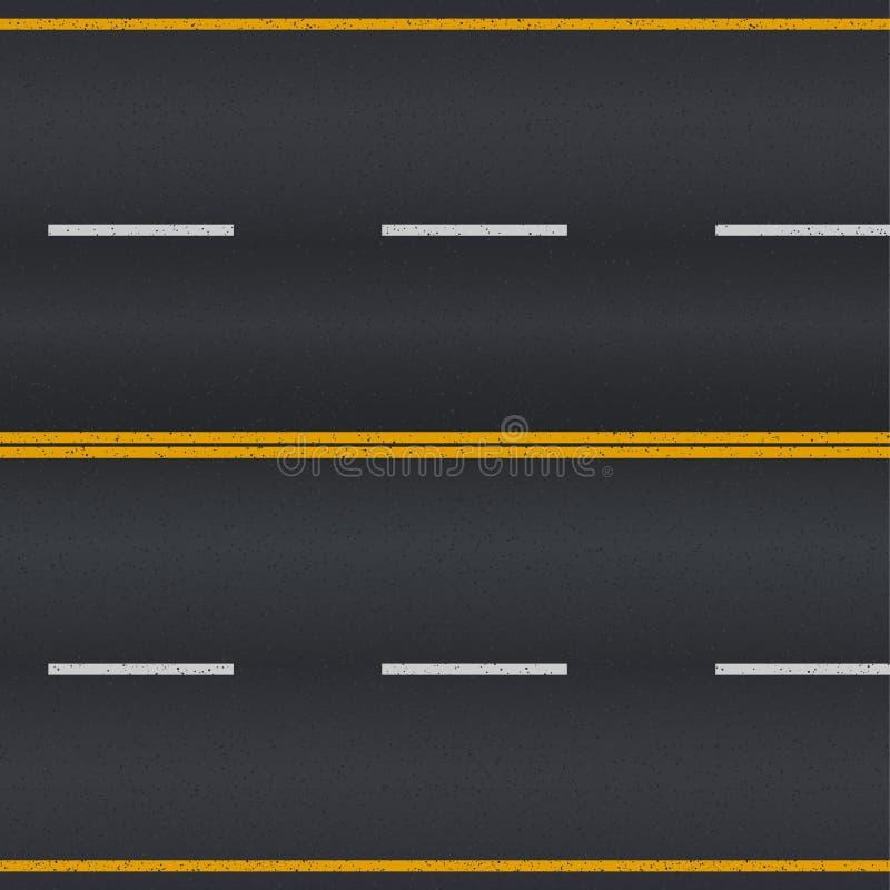 沥青详细形成路正方形人员结构 库存例证