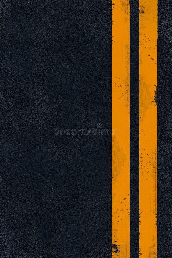 沥青黑色标号黄色 免版税库存照片