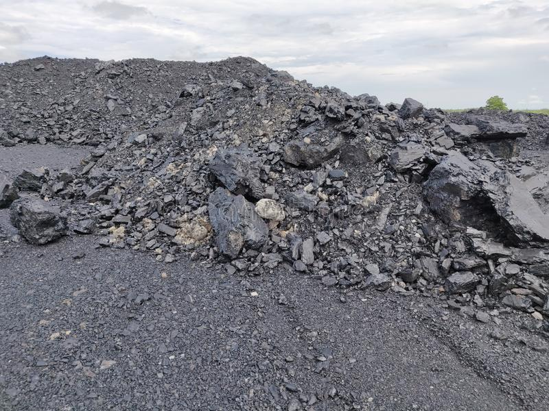 沥青-无烟煤,高级煤炭 库存照片