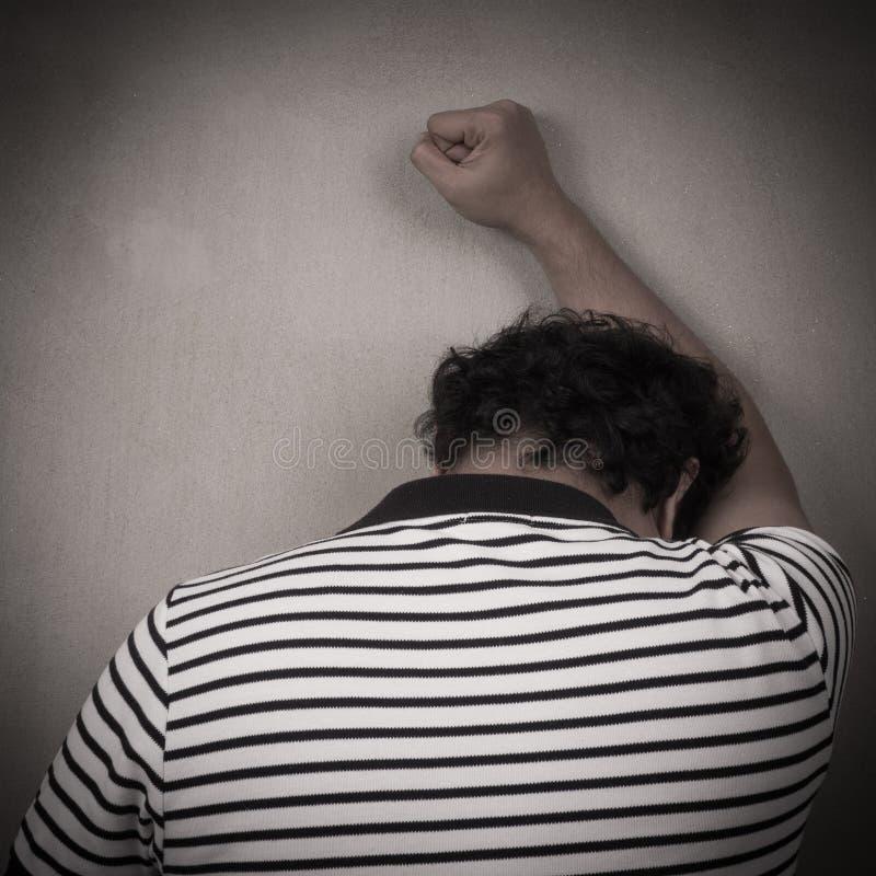 沮丧的人 免版税图库摄影