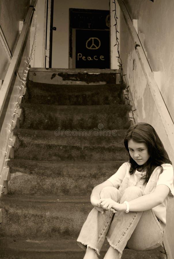 沮丧的女孩 图库摄影
