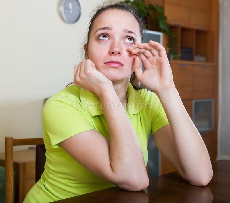 沮丧的女性 免版税库存图片