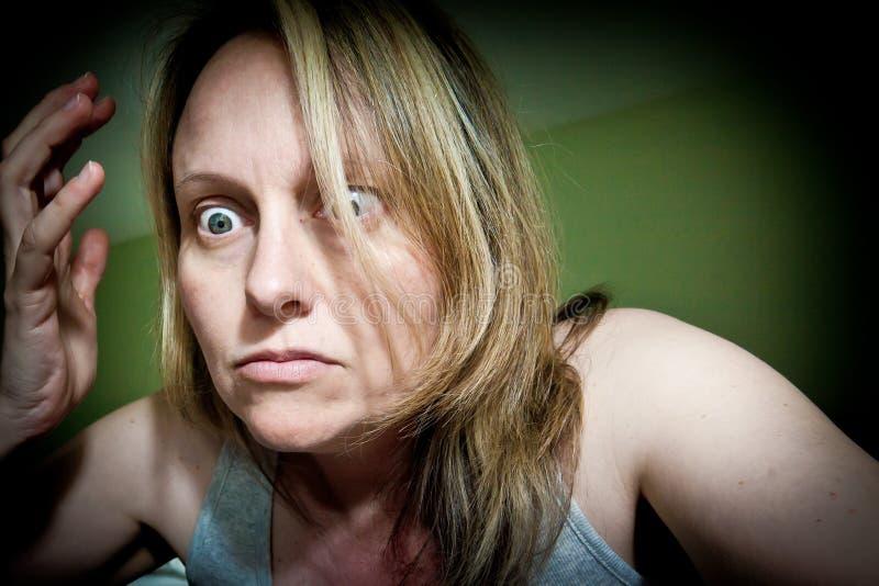 沮丧的妇女 库存照片