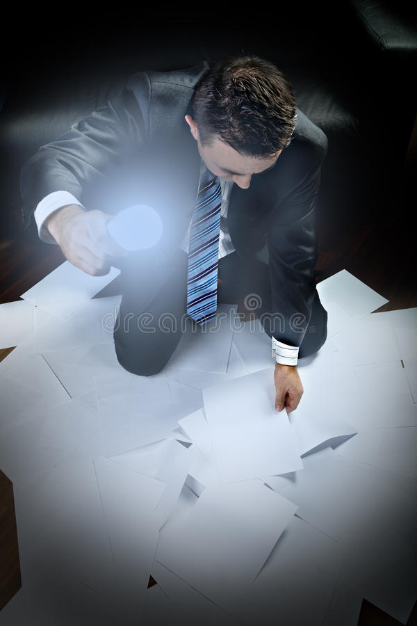 沮丧的生意人 免版税图库摄影