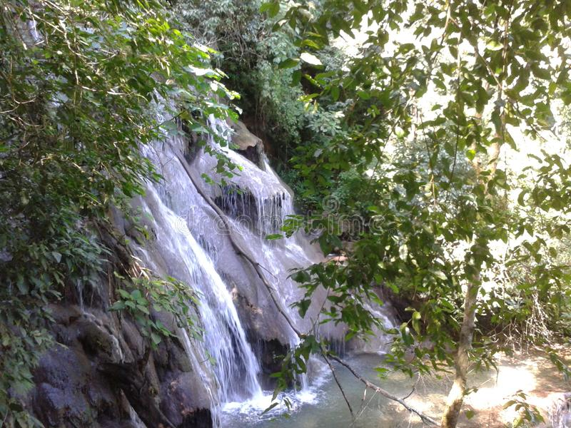 河、湖和瀑布在恰帕斯州,墨西哥 库存图片