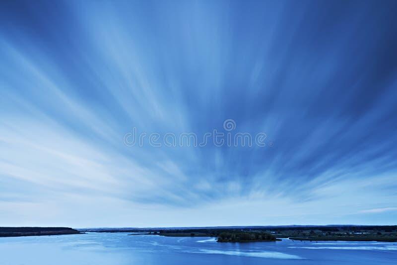 河伏尔加河 库存图片