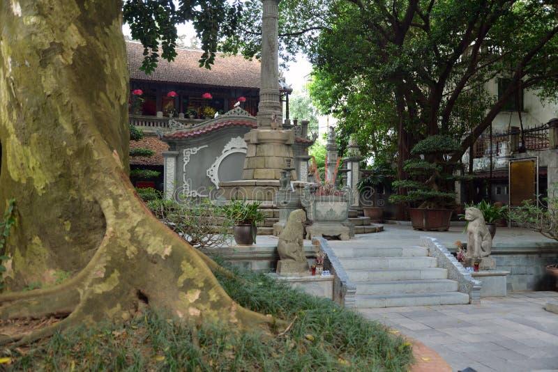 河内越南 Le Thai To国王纪念碑庭院 库存照片