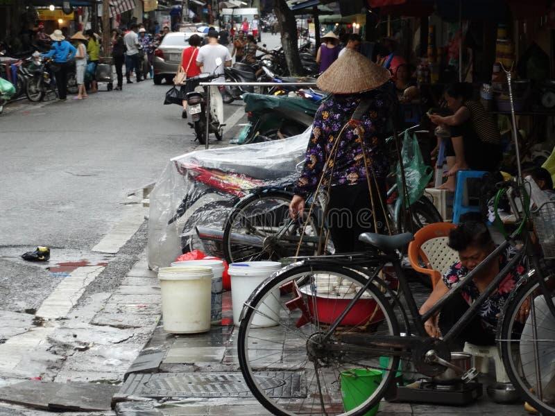 河内` s老处所街道  免版税库存照片
