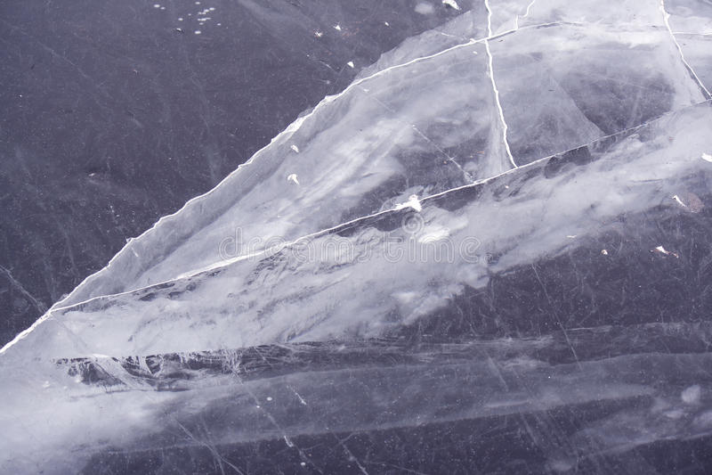 冻河冰 免版税库存图片