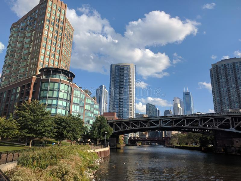 河北部芝加哥河 免版税库存图片