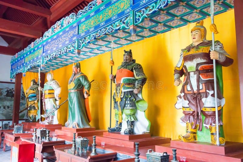 河北,中国- 2015年10月23日:五老虎赵云庙的霍尔 A 免版税库存照片