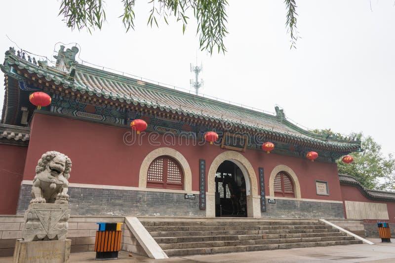 河北,中国- 2015年10月23日:赵云庙 著名历史的si 免版税库存照片