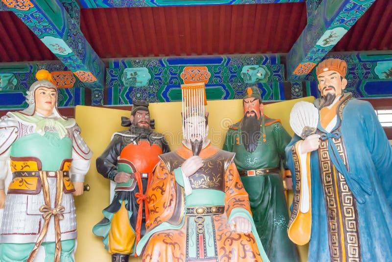 河北,中国- 2015年10月23日:霍尔国王和官员Zhaoyun的Tem 库存照片