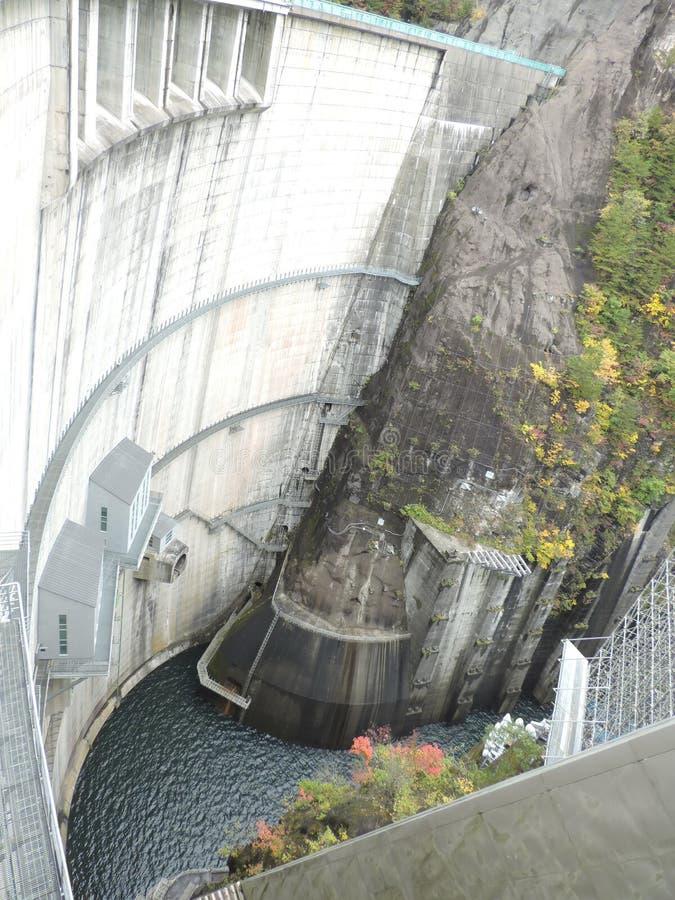 河又水坝在日本 免版税库存照片