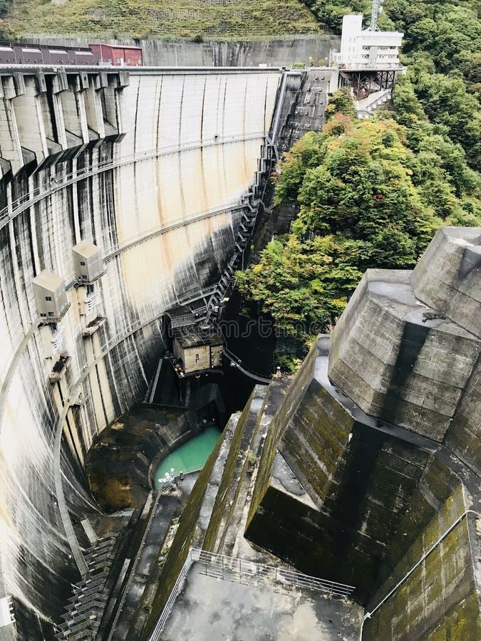 河又水坝在日本 库存照片
