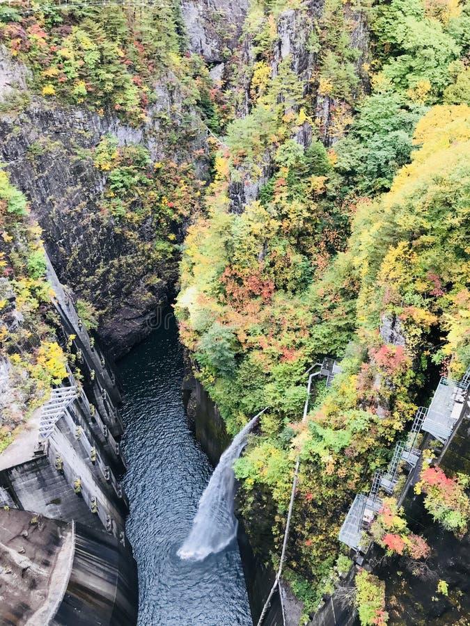 河又水坝在日本 库存图片