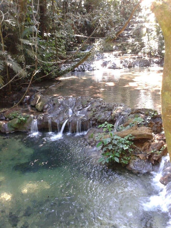 河和湖在墨西哥 图库摄影