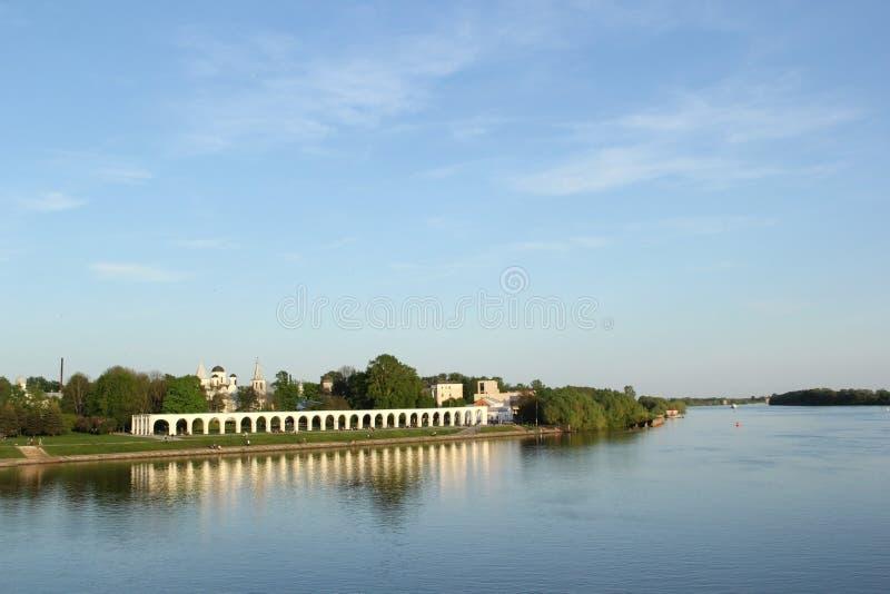 河在大诺夫哥罗德 库存照片