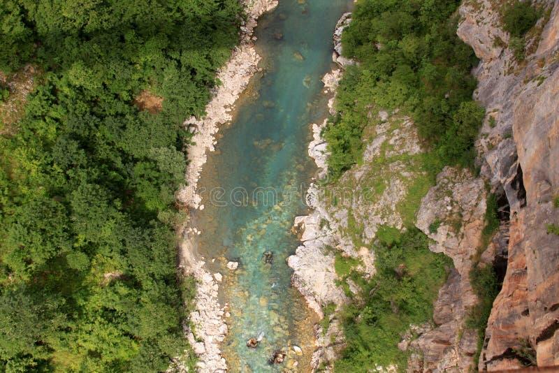 河在桥梁下 免版税图库摄影