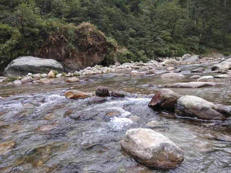 河在锡金 图库摄影