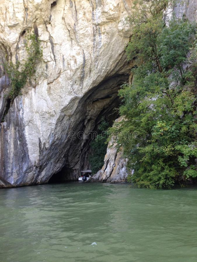 洞河多瑙河美丽的罗马尼亚 免版税库存图片