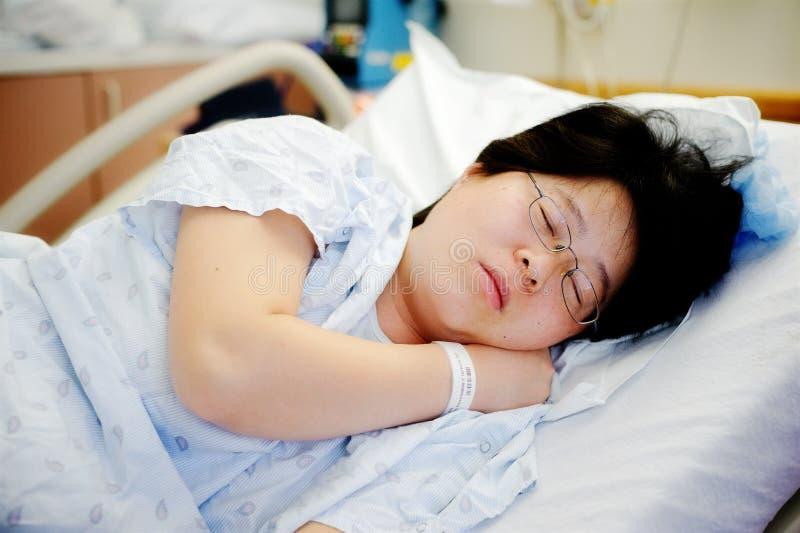 河床休眠的患者 免版税图库摄影