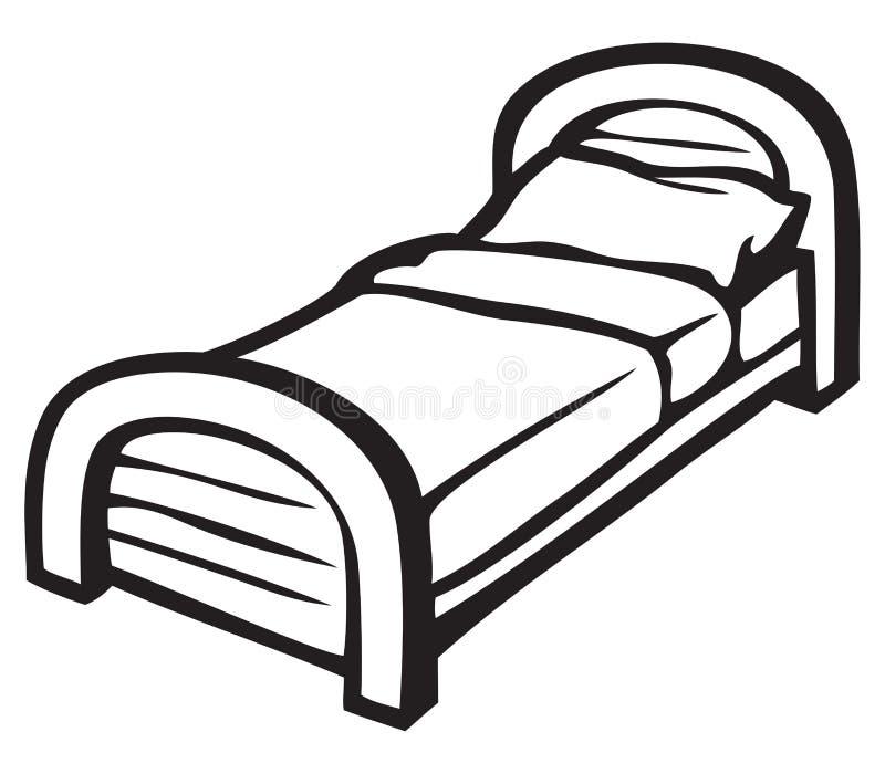 河床和枕头 向量例证