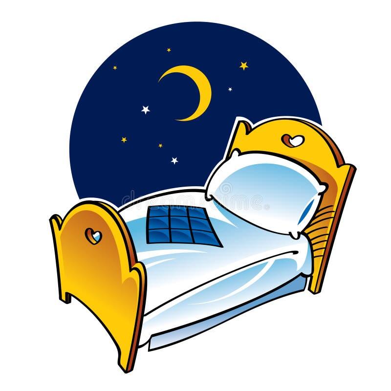 河床晚上休眠 向量例证
