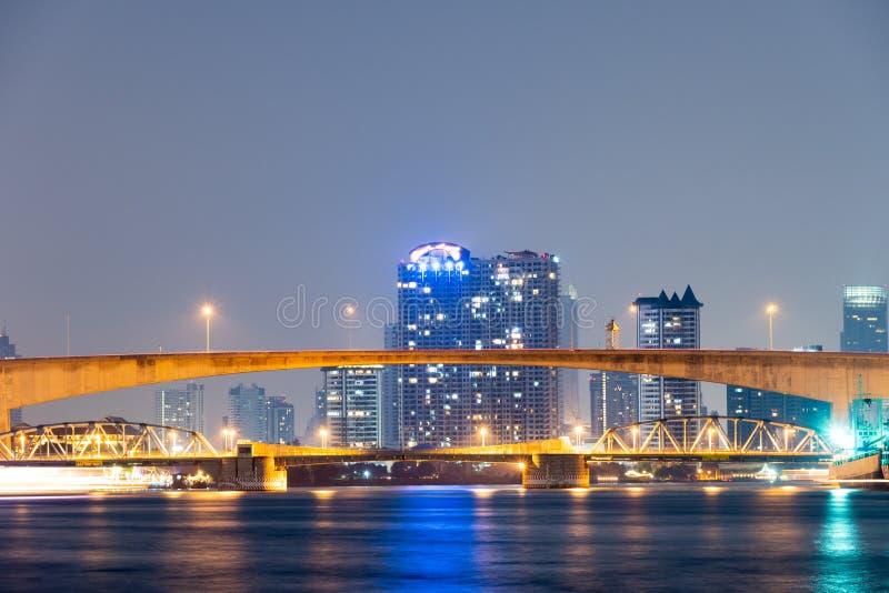 河桥梁在曼谷 免版税图库摄影